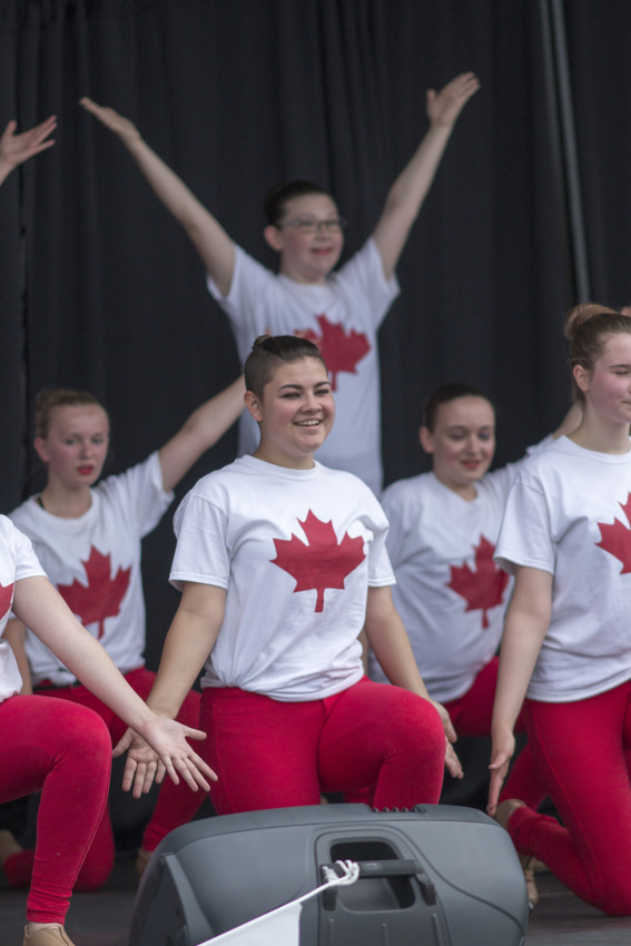 Dance group at the Spruce Grove Canada Day Celebration