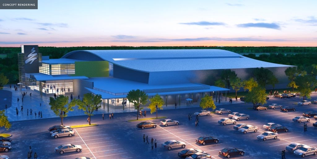 Multi-Use Sport and Event Centre concept parking lot