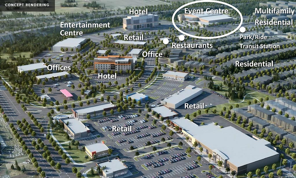 Multi-Use Sport and Event Centre concept area plan